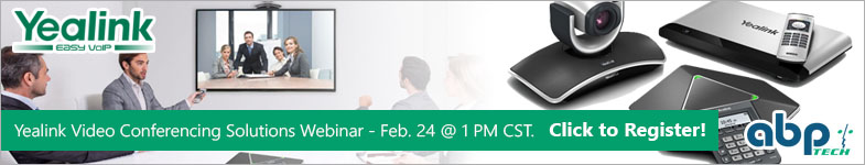 Yealink Video Conferencing Webinar on Feb. 24 @ 1PM CST