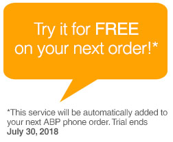 Try it for FREE on your next order!*