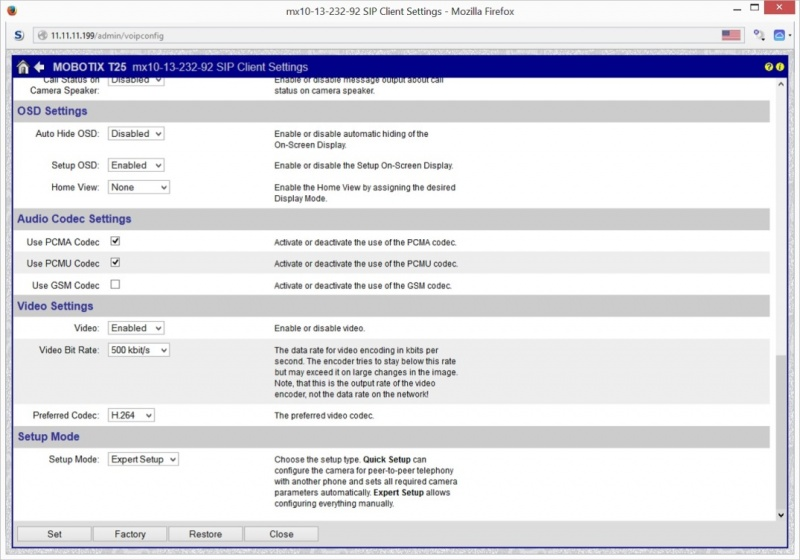 Configuring MOBOTIX T25 with Grandstream GXV3140   ABP TECH