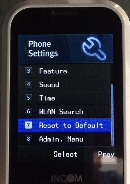 Factory Reset UniData WiFi phone | ABP TECH